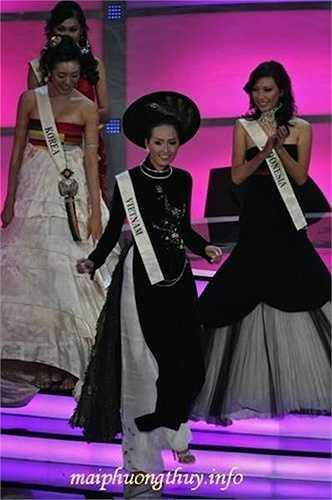 Ngoài thành tích top 20 thí sinh mặc trang phục dân tộc đẹp nhất, Mai Phuơng Thuý còn lọt vào top 17 tại Hoa hậu Thế giới 2006. Cô cũng được trang web Globalbeauties.com xếp hạng lọt vào top 50 hoa hậu tiêu biểu nhất tại các cuộc thi hoa hậu quốc tế trong năm 2006.