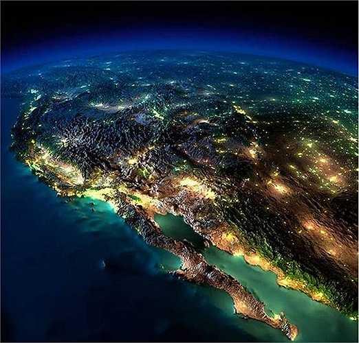 Bờ tây Nước Mỹ về đêm