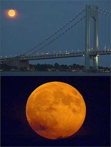 Siêu trăng là thời điểm trăng sáng gấp 25-30 lần bình thường nên cảm giác trăng lớn hơn ngày thường rất nhiều