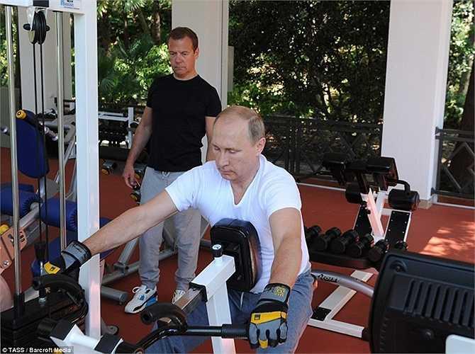 Ông Putin sử dụng thành thạo các máy tập