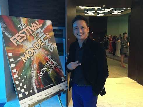 Đạo diễn Nguyễn Quang Tuyến được đón tiếp nhiệt tình.