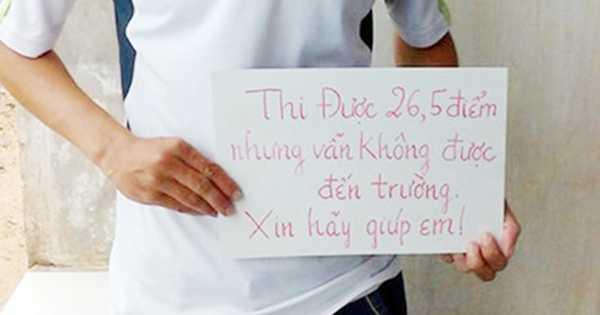 Thí sinh Trần Văn Sâm đã được ĐH Y dược Cần Thơ đồng ý tiếp nhận (Ảnh: PL TPHCM)