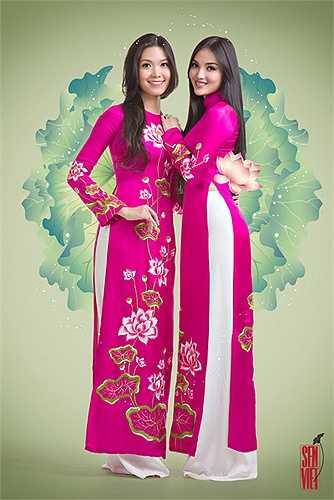 Sự tương phản của trắng và hồng sen tạo nên sự hấp dẫn của bộ sưu tập.