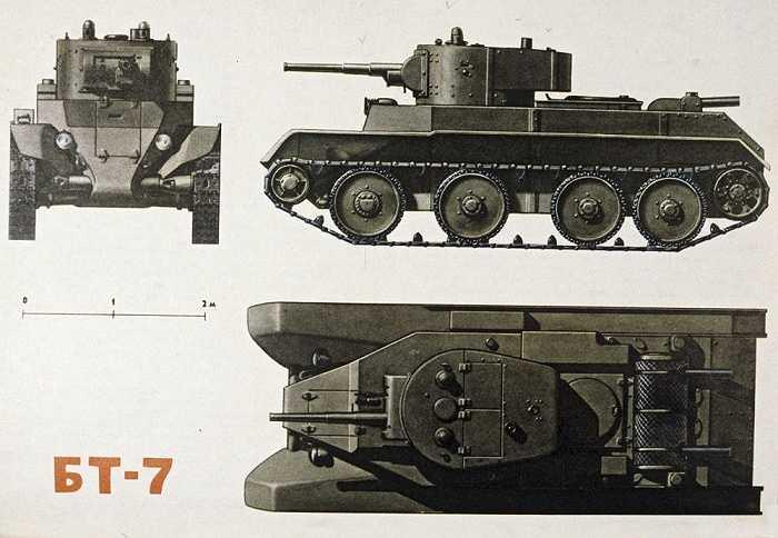 BT7 là chiếc xe tăng có tốc độ cao, xuất hiện lần đầu năm 1938