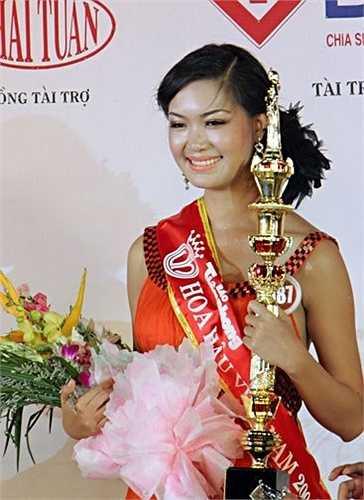Cô giành chiến thắng trong cuộc thi Hoa hậu quốc gia lần thứ 11 được tổ chức vòng chung kết vào tháng 8/2008 tại thành phố Hội An, tỉnh Quảng Nam.