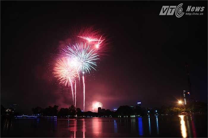 Ở Công viên Thống Nhất có thể nhìn thấy một số quả pháo ở phía Hồ Gươm