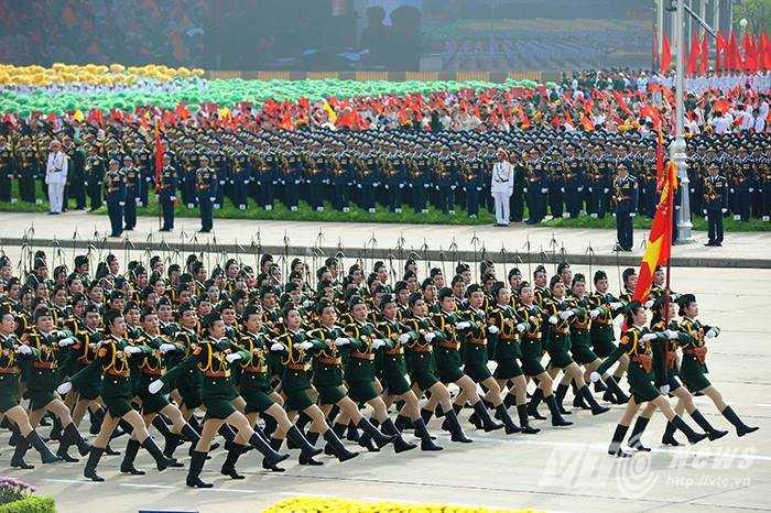 Các khối diễu hành lực lượng vũ trang