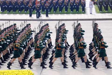 Hình ảnh trong lễ diễu binh, diễu hành trên đăng trên trang NBC News (Mỹ)