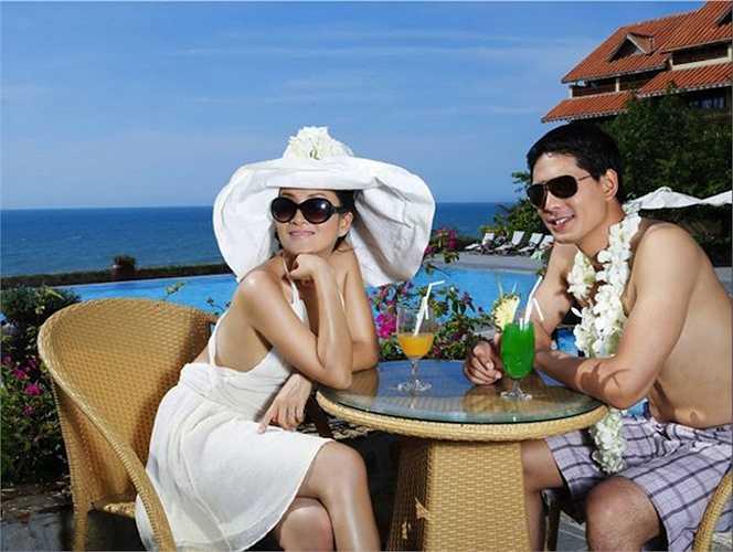 Cặp đôi được xem là 'gia đình kiểu mẫu' của showbiz Việt thời hiện đại.  (Nguồn: Dân Việt)