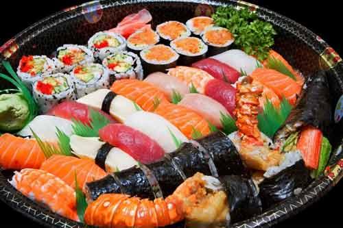 Nhiều thực phẩm tươi sống đến từ Nhật Bản