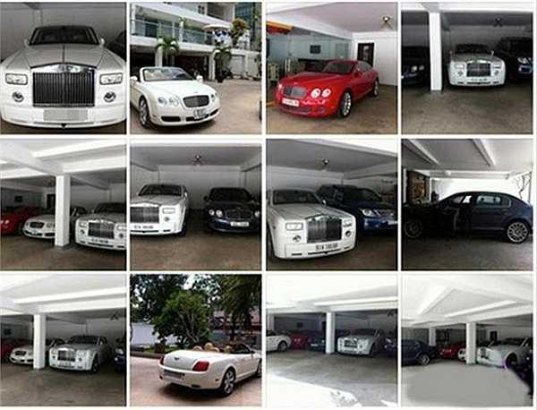 Anh sở hữu bộ sưu tập siêu xe lên đến hàng chục chiếc, gồm một chiếc Rolls-Royce Phantom trắng, 4 chiếc Bentley, Lexus LX570, Audi A7, Ferrari 458…Với lượng xế khủng này, truyền thông đánh giá, ông xã tương lai của Midu chi ra gần trăm tỷ đồng để sở hữu
