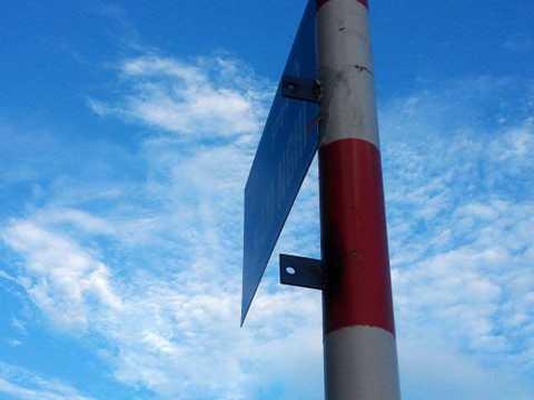 Tấm biển tên đường 'Ướp Lạnh' đã bị gỡ xuống trong chiều ngày 4/9 (Ảnh: Internet)