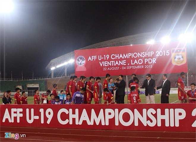U19 Việt Nam lần thứ 3 liên tiếp về nhì ở giải U19 Đông Nam Á. (Ảnh: Zing)