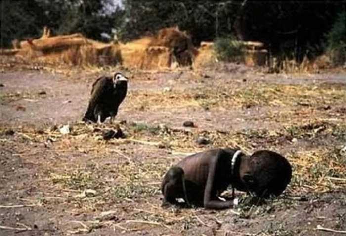 Hình ảnh con kền kền chờ đợi cậu bé sắp chết đói để ăn thịt đã mang lại giải thưởng Pulitzer cho nhiếp ảnh gia Kevin Carter nhưng anh không thể vượt qua được sức ép và sự ám ảnh của bức hình này để rồi phải tự tìm đến cái chết để giải thoát bản thân mình