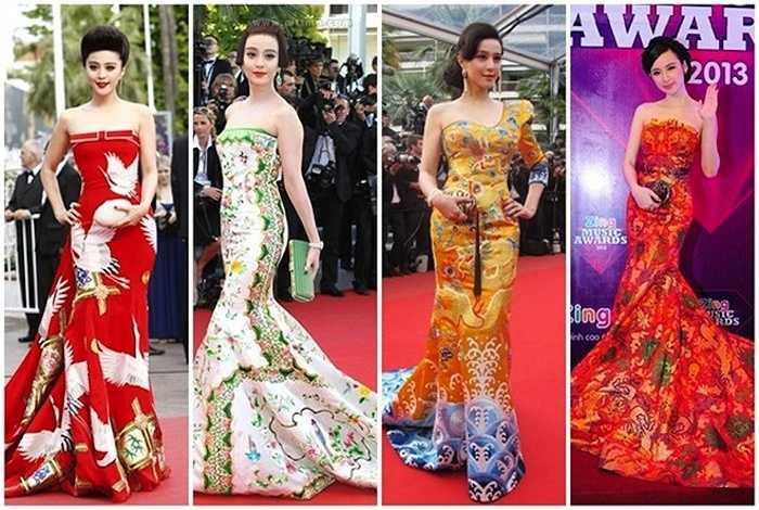 Gu thời trang của cô cũng là một điều đáng bàn. Tủ đồ của người đẹp không ít những trang phục đạo, nhái.