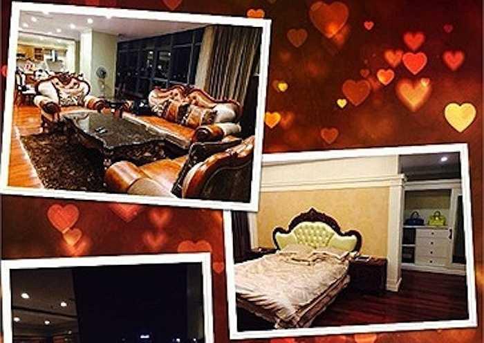 Phòng ngủ và phòng khách được trang trí lộng lẫy và sang trọng. (Trung Ngạn)