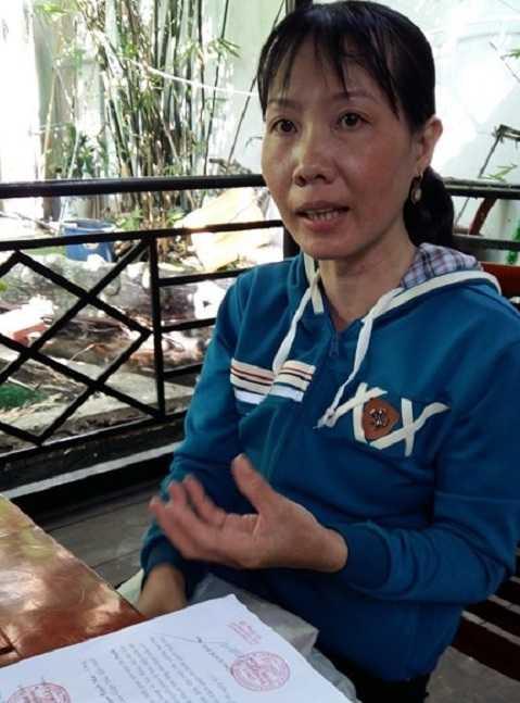Chị Phạm Tuyết Mai- nữ công nhân nhặt được vàng trong rác.