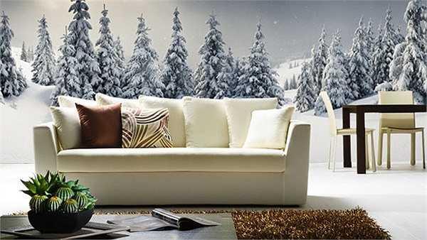 Bức tranh dán tường phong cảnh đẹp mắt tạo cảm giác như bạn mang cả thiên nhiên vào nhà
