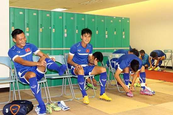 Các học trò HLV Miura đang rất thoải mái và phấn chấn trước thềm trận đấu với đội chủ nhà Đài Loan (Trung Quốc). (Ảnh: VFF)