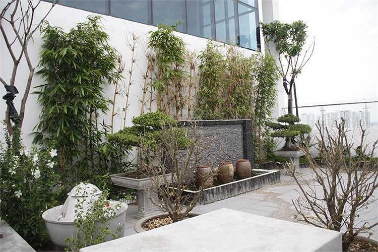 Phần cơi nơi diện tích chung trên tầng thượng tòa A để làm căn hộ riêng của Tổng giám đốc Hưng Việt Đỗ Hữu Hậu
