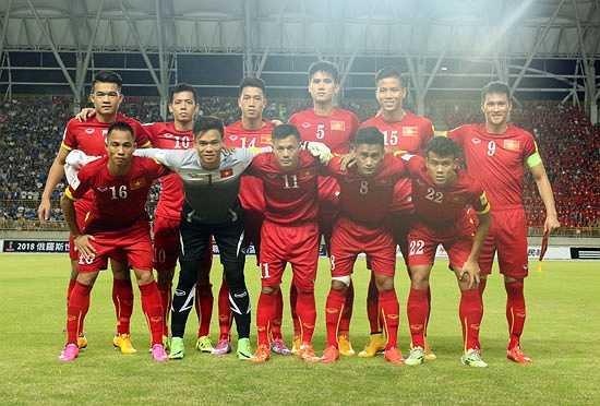 Đội hình xuất phát của tuyển Việt Nam trận này. (Ảnh: VFF)