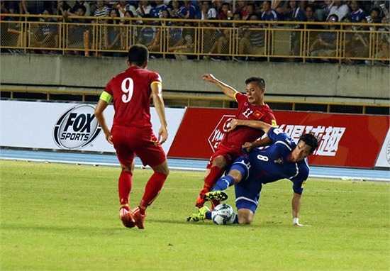 Đúng như dự đoán, Việt Nam đã gặp phải một chủ nhà Đài Loan thi đấu rất tiến bộ với sự gắn kết cao, chơi áp sát và đầy quyết liệt. (Ảnh: VFF)