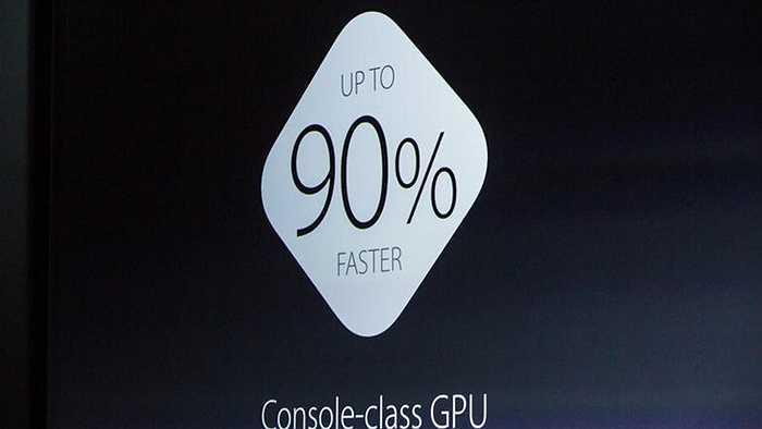 Và 90% với tác vụ GPU so với Apple A8 trên iPhone 6