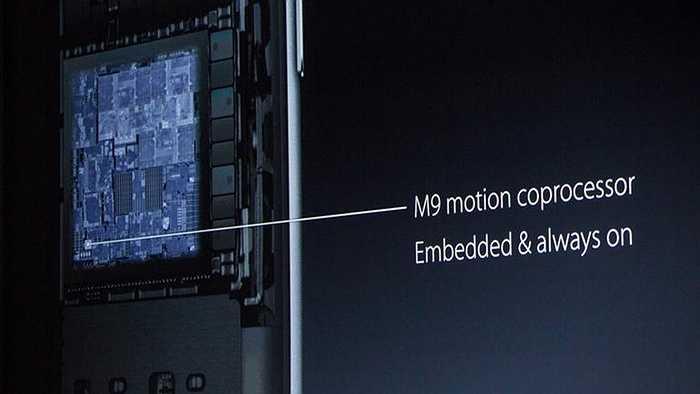 iPhone 6s được tích hợp kèm cả vi xử lý chuyển động M9