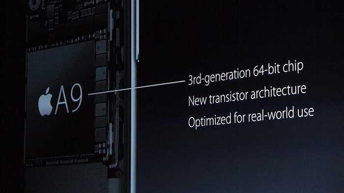 iPhone 6s được trang bị bộ vi xử lý 64-bit Apple A9
