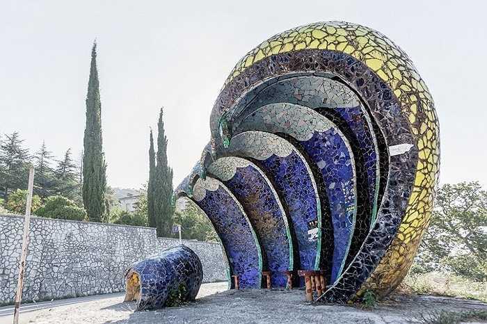 Một thiết kế mô phỏng con sóng khác ở Gagra, Abkhazia