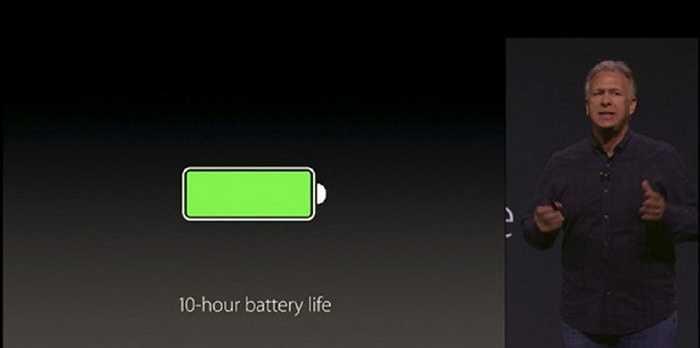 5. Thời lượng pin. Apple gần như chưa bao giờ 'ba hoa' hay nói sai về thời lượng pin. Nâng cấp màn hình lên 12,9 inch như vẫn giữ được thời lượng 10 giờ ấn tượng cho thấy khả năng vận hành tuyệt vời của iPad Pro