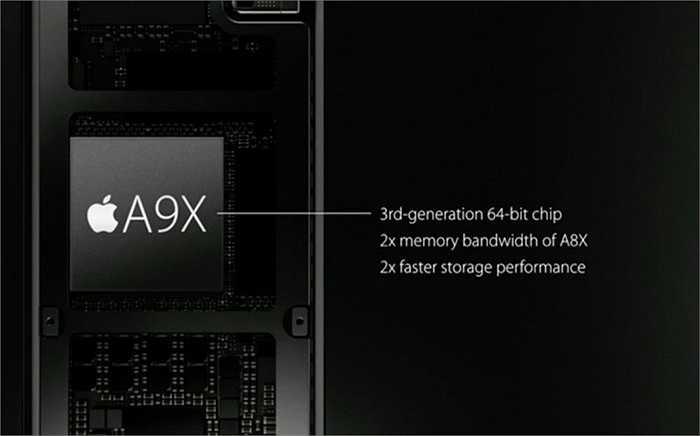 2. Công nghệ. Điểm nhấn của công nghệ trên iPad Pro chính là Chip xử lý A9x, cho phép iPad Pro có thể vận hành tốt hơn 80% so với máy tính cây và nhanh hơn gấp tới 22 lần so với các thế hệ iPad trước đây