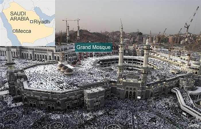 Vị trí Đại Thánh đường ở Thánh địa Mecca