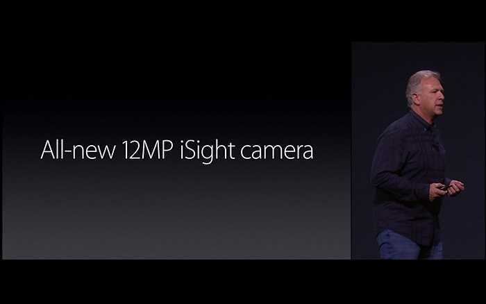 Đầu tiên và nổi bật nhất đó là iPhone 6S/ 6S Plus sở hữu camera 12 mega pixels – không hề lớn so với các đối thủ cạnh tranh nhưng đây là cả một cuộc cách mạng của Apple khi nâng cấp từ camera 8 'chấm' lên.