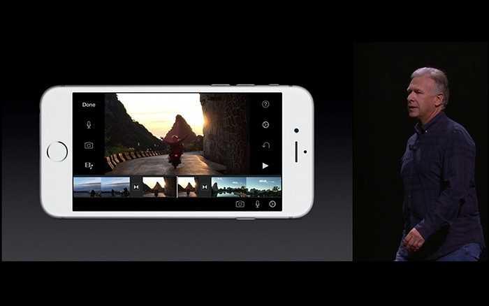 Phần mềm iMovie cũng được tích hợp để chỉnh sửa các đoạn phim 4K ngay trên chiếc iPhone của người dùng