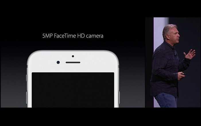 1,2 megapixels lên 5 megapixels là sự nâng cấp đáng kể cho camera trước. Theo Apple, đây là sự nâng cấp dành cho các cuộc gọi Facetime cũng như chụp ảnh Selfie sắc nét