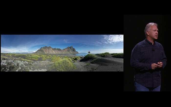 Apple cũng khẳng định công nghệ panorama của họ đã được nâng cấp đáng kể.