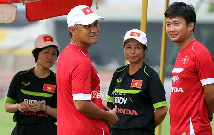HLV trưởng Norimatsu Takashi tỏ ra khá hài lòng với những gì tuyển nữ Việt Nam đang chuẩn bị.