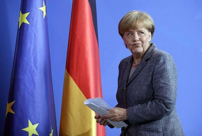 Thủ tướng Đức Angela Markel sau buổi họp của Ủy ban châu Âu về cuộc khủng hoảng di cư