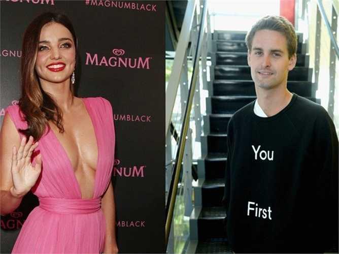 May mắn nhất là CEO Evan Spiegel của Snapchat khi anh đã được phép chi tiền mời người đẹp nổi tiếng Miranda Kerr đi chơi