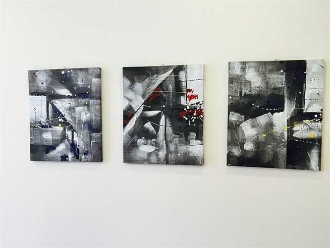 Những bức tranh tạo điểm nhấn cho căn hộ