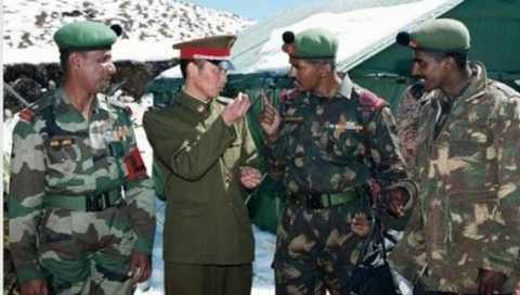Quân đội Trung Quốc, Ấn Độ trong một cuộc gặp mặt ở biên giới