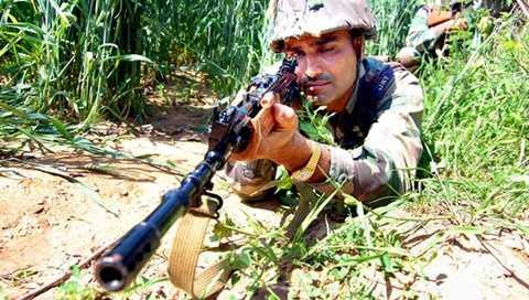 Binh lính Ấn Độ đóng ở biên giới với Trung Quốc