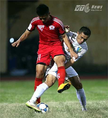 Bàn thắng của Văn Quyết cũng là bàn thắng duy nhất của trận đấu, giúp Hà Nội T&T giành trọn 3 điểm. (Ảnh: Quang Minh)