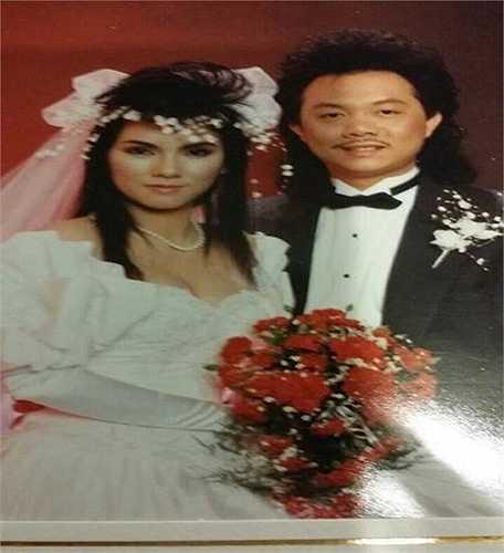 Danh hài Chí Tài điển trai bên vợ trong ngày cưới.