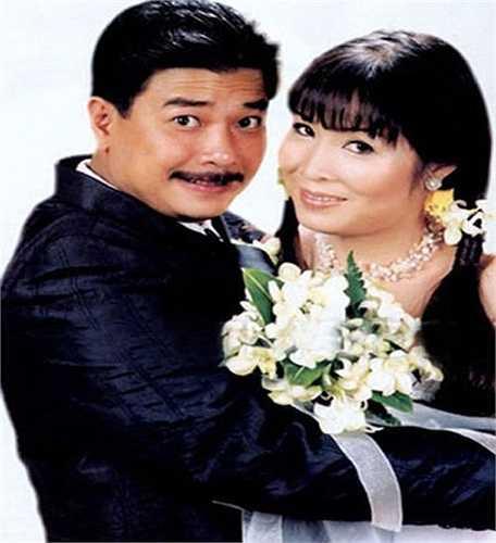 Ảnh cưới của NSND Hồng Vân và diễn viên Lê Tuấn Anh.