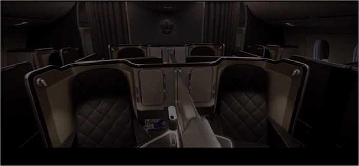 Ghế da cho mỗi khách được làm từ loại da thượng hạng tạo sự thoải mái. Hệ thống ánh sáng được điều khiển với điện thoại rất tiện lợi