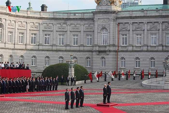 Lễ đón chính thức Tổng Bí thư Nguyễn Phú Trọng được tổ chức trọng thể tại Nhà khách quốc gia với những nghi thức cao nhất