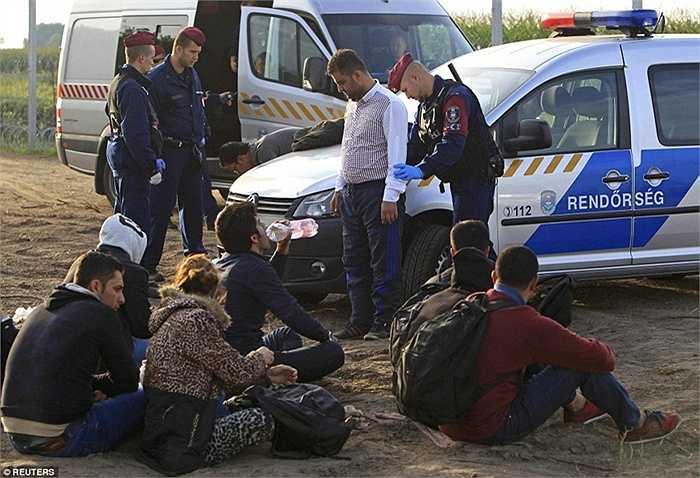 Liên tục những trường hợp cố gắng vượt qua biên giới trái phép bị cảnh sát Hungary 'sờ gáy'