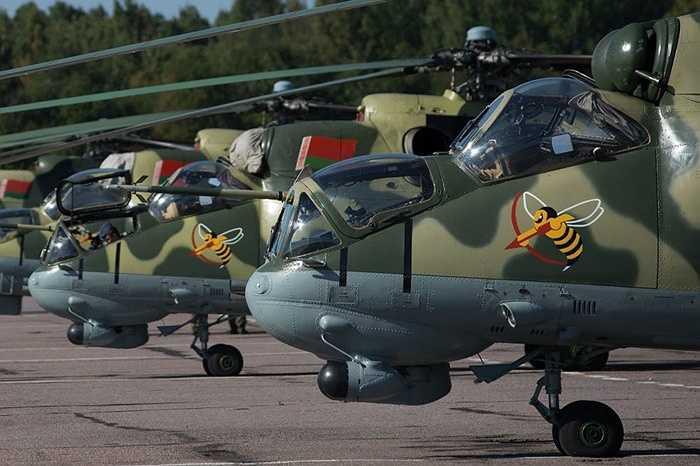 Trực thăng tấn công Mi-24 của không quân Belarus